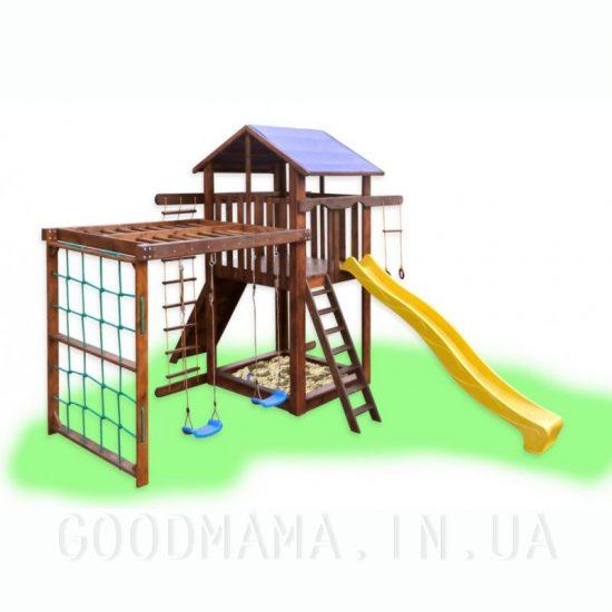 Детский игровой комплекс с рукоходом и качелями
