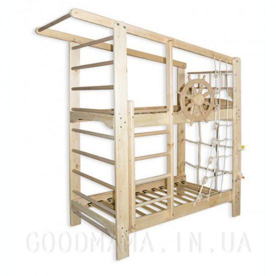 Двухъярусная спортивная кровать из сосны