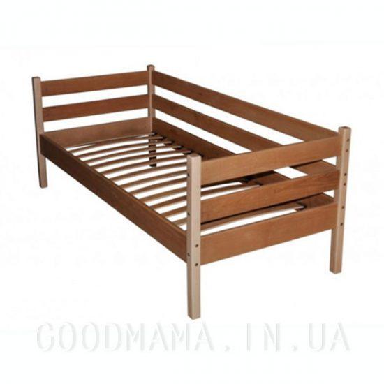 Кровать одноярусная из бука с боковиной