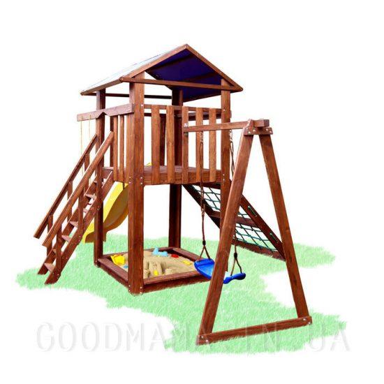 Детский игровой комплекс с пиратской сеткой для улицы