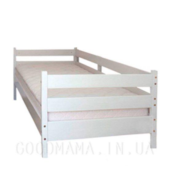 Кровать одноярусная из бука белая