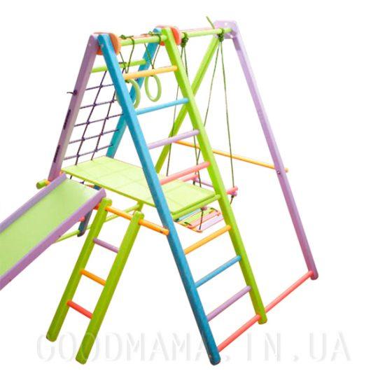 Раскладной спортивно-игровой комплекс из бука цветной