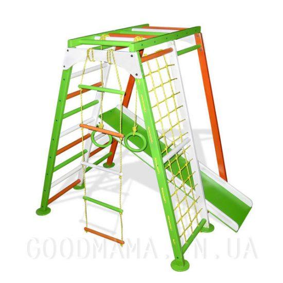Детский спортивный комплекс салатово-оранжевый