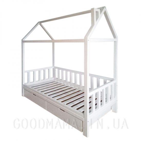 Кровать - домик с ящиками без переднего бортика