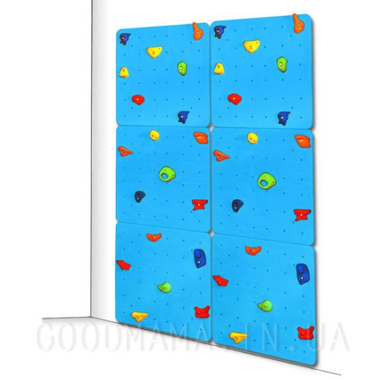 Детский скалодром синий