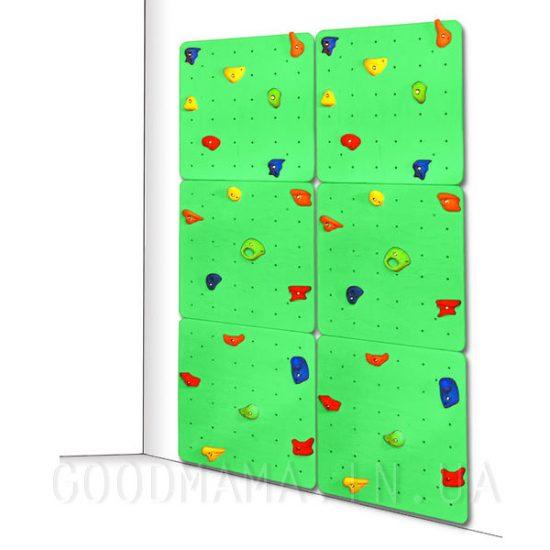 Детский скалодром зеленый
