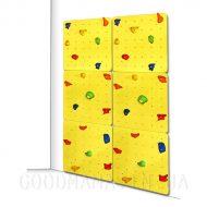 Детский скалодром желтый