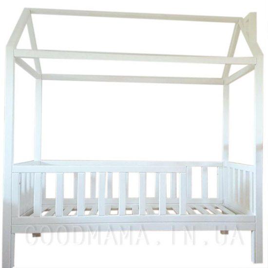 Кровать - домик с дымоходом белая