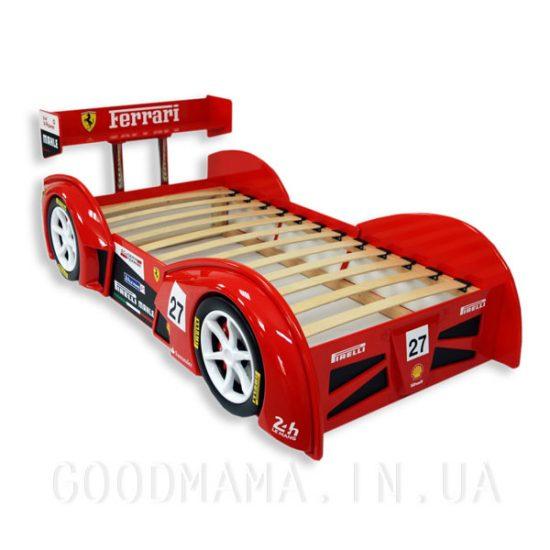 Детская кровать-машина красная «24 LM»