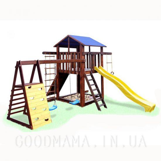 Детский уличный игровой комплекс с качелями - 2