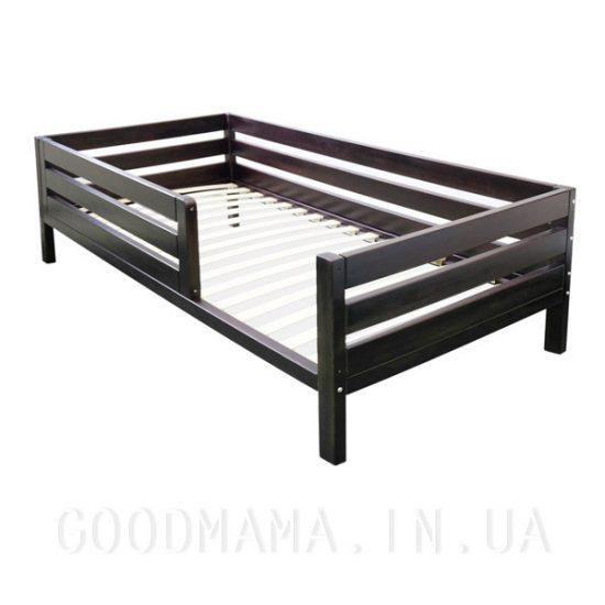 кровать детская из массива дерева в тонировке