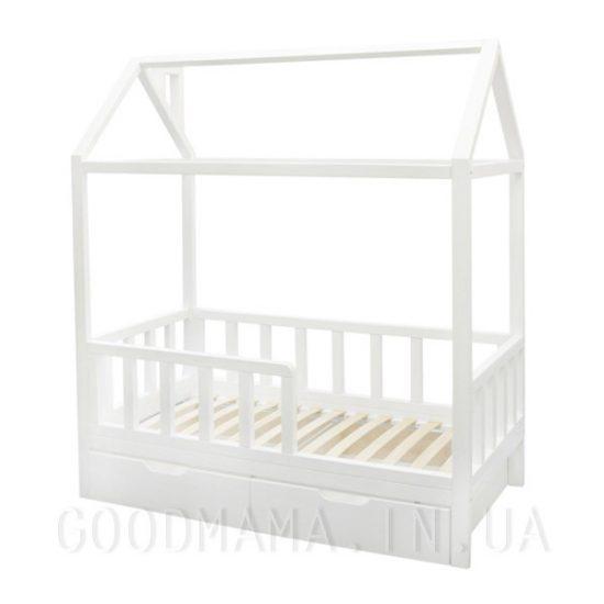 кровать домик детская из дерева с ящиками