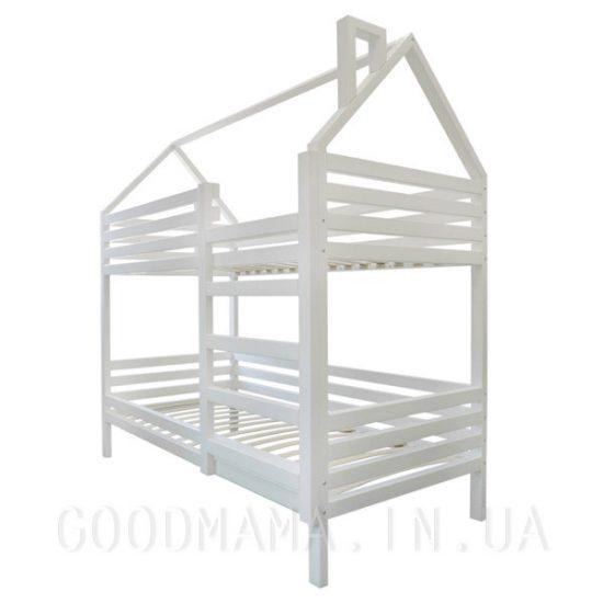 кровать домик с дымоходом двухъярусная