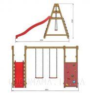 Детская игровая площадка с горкой схема размеры