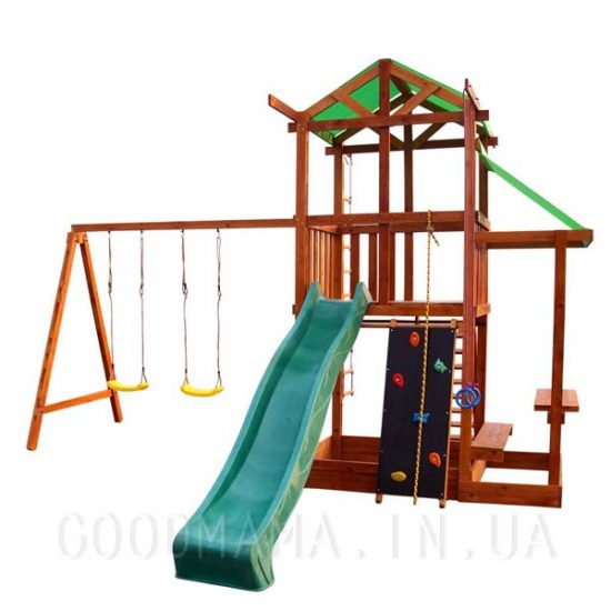 Детский игровой домик с маркизой для улицы
