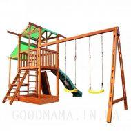Детский игровой домик с маркизой для улицы фото