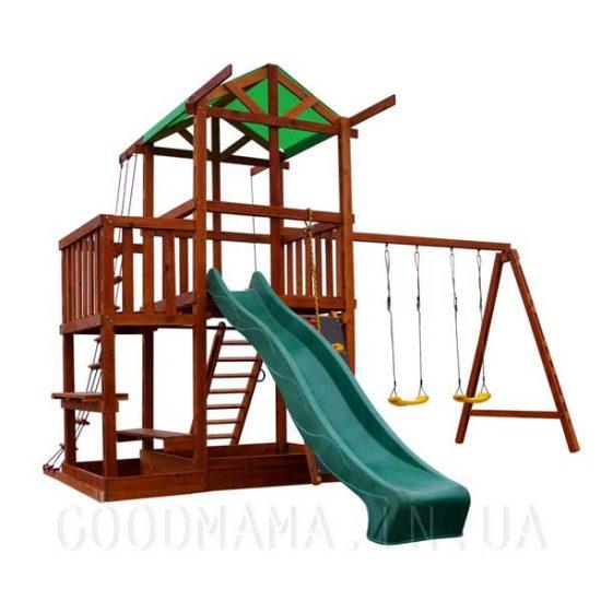 Детский игровой домик с верандой для улицы | Детская игровая площадка