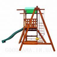 Детский игровой домик с верандой для улицы лево