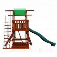 Детский игровой домик с верандой для улицы право