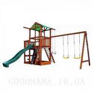 Детский игровой домик с верандой для улицы сторона