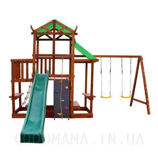 Детский игровой домик с верандой и маркизой для улицы | Детская игровая площадка