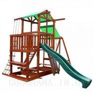 Детский игровой домик с верандой и маркизой для улицы фото