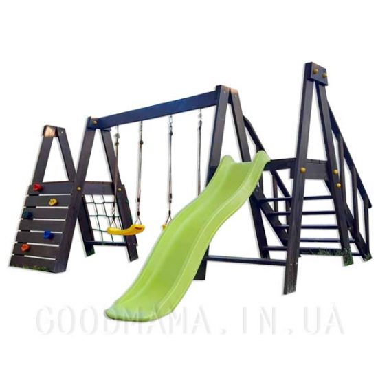 Детская игровая площадка с горкой из дерева Goodmama