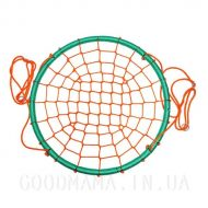 Качели Гнездо Аиста 100 см Бирюзово Оранжевый2