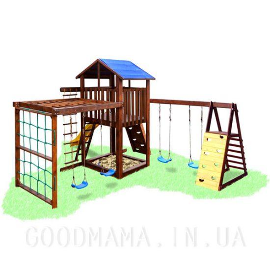Детский уличный игровой комплекс с тумбой и рукоходом
